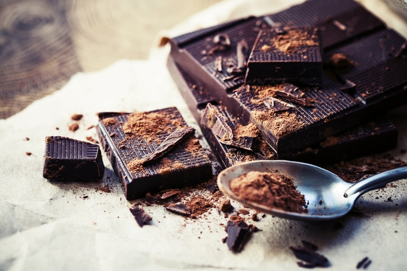 Adding dark chocolate or cocoa powder can help your skin look bright and healthy.